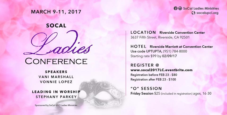 SoCal Ladies Conference 2017 – Calvary Apostolic Church